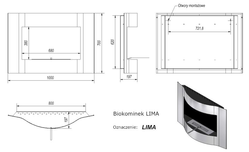 Біокамін Lima - 1
