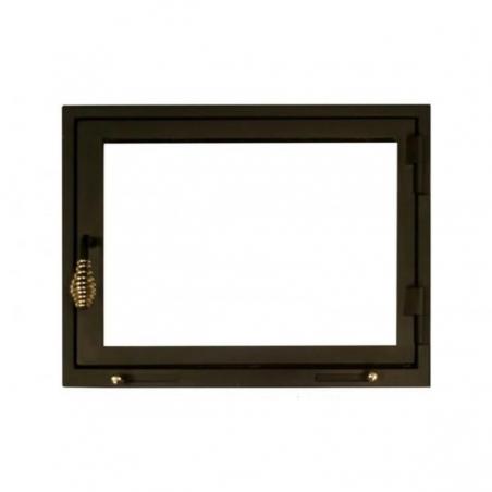 Дверки для камина прямые с нахлестом 76*47